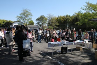 心地よい晴天に恵まれた奈良・西ノ京のスケッチ会