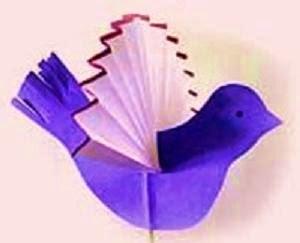 Katlama yöntemiyle kanatlarnı yapabileceğimiz sevimli bir kuş