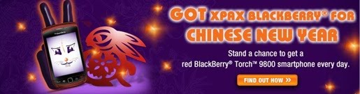 Menangi Blackberry Torch 9800 Merah Special Edition Sempena Chinese New Year