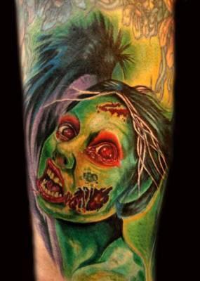 Zombie Girl Tattoo Artwork