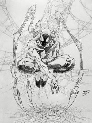 Black Spider-Man Drawings