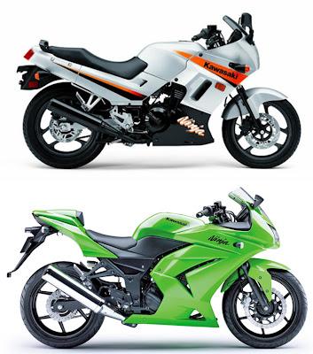 2008 Kawasaki Ninja 250R: The old VS the new!