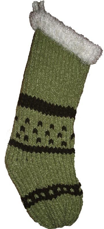 Knitting Loom Christmas Stocking Pattern : Creations by Pam: 11/1/10
