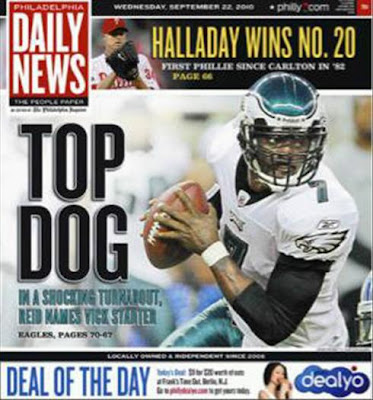 Philadelphia Daily News' Top Dog headline
