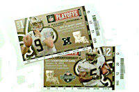 Saints playoff tickets
