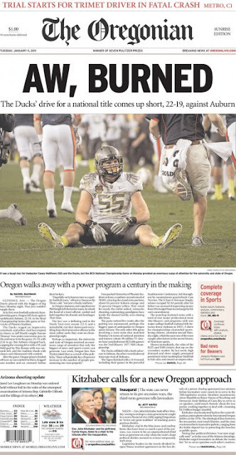 Oregonian clever headline