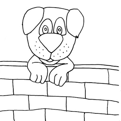 cachorro no muro