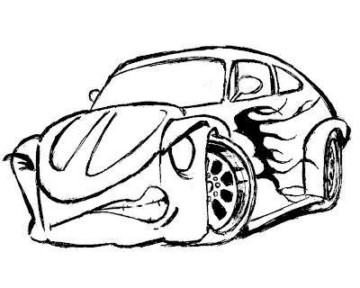 Desenho de carro colorir, carro modificado nervoso veja