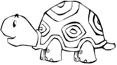 Desenho de tartaruga para colorir, Desenho de animal para colorir. Desenho de tartaruga