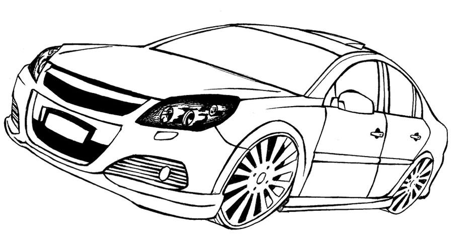 Dibujos de coches tuning para colorear - Imagui