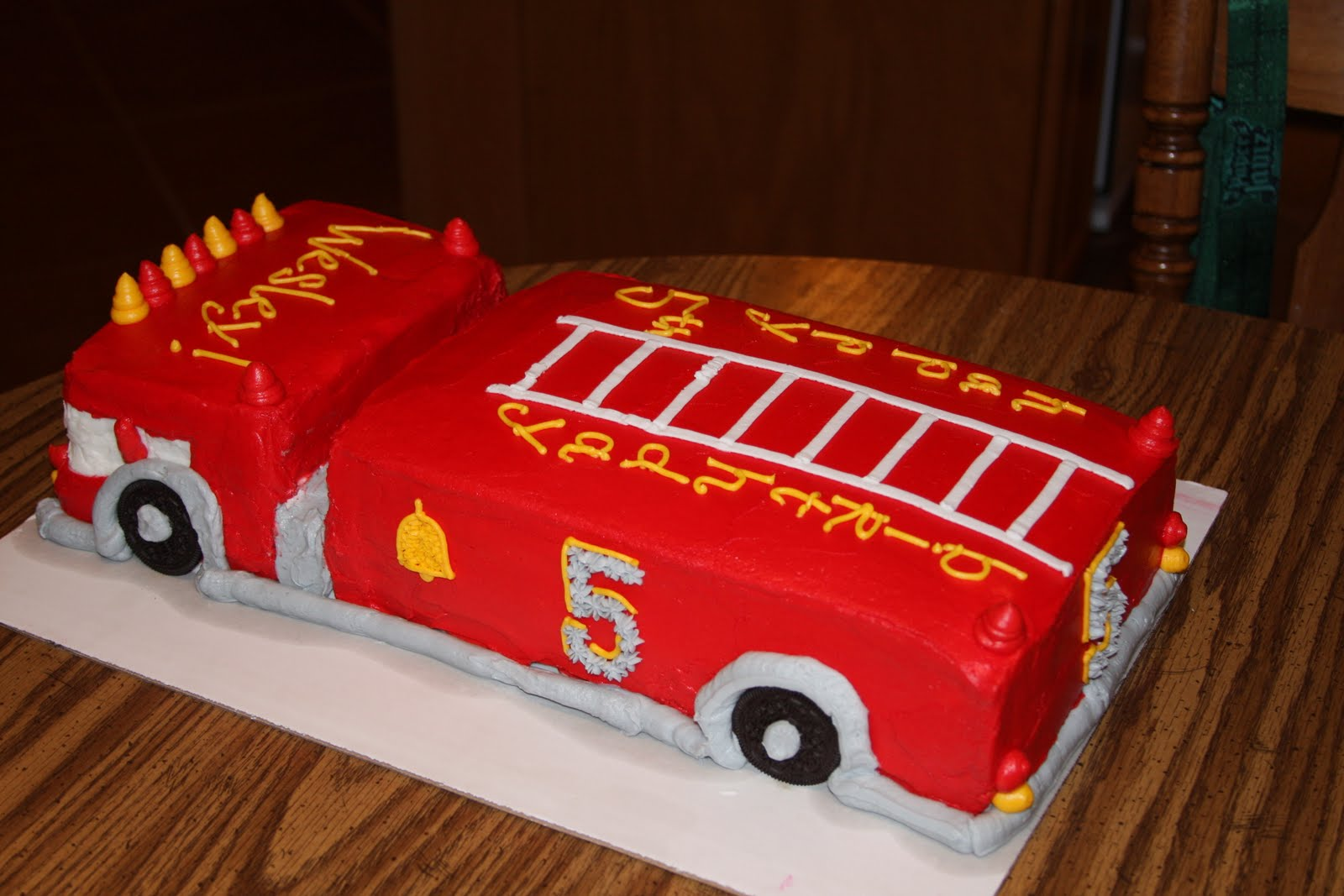 Can I Make Your Cake Fire Truck Birthday