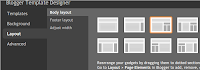 Blogger designer control panel layout menu