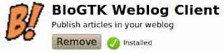 Blog GTK Weblog client linux