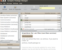 unzip unrar uncompress rar files with unrar application ubuntu linux