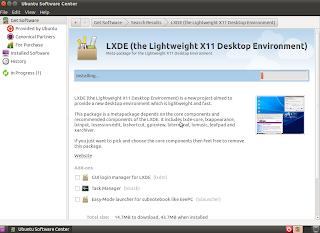 Install Lxde using ubuntu software center