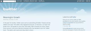 Twitter blog using blogger blog