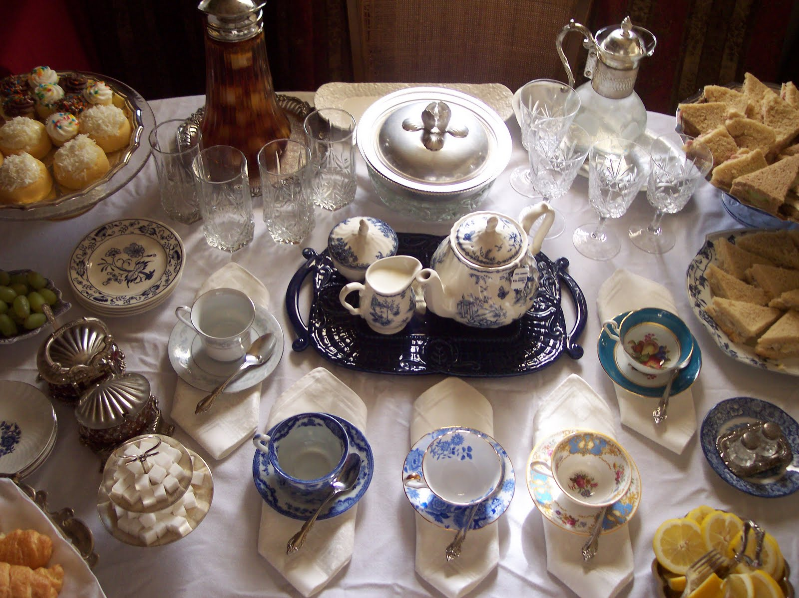 The thrifty groove let 39 s enjoy a high tea party for Victorian tea party supplies