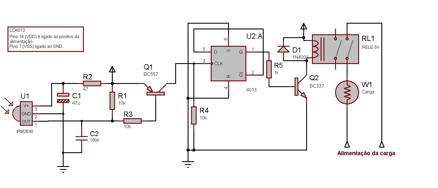 Circuito Eletronica : Eletronica erlich: receptor para controle remoto ir