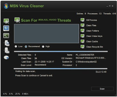 Download - MSN Virus Cleaner 2.0.1.3