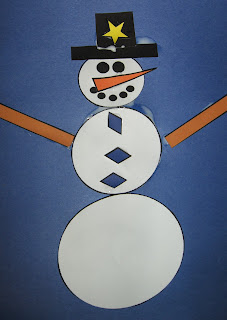 snowman shapes craft