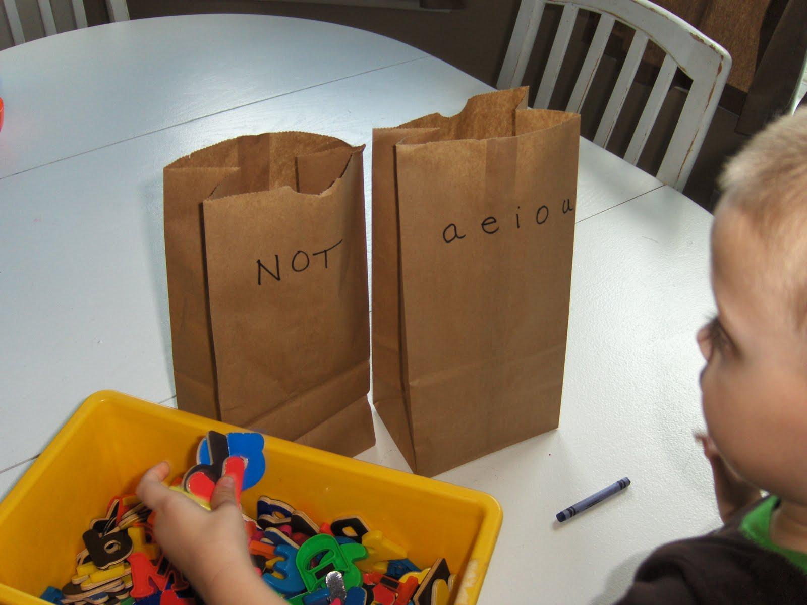 Paper bag activity - Paper Bag Sorting