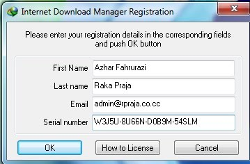 Dan Uppss, ternyata Internet Download Manager menolak Serial Number