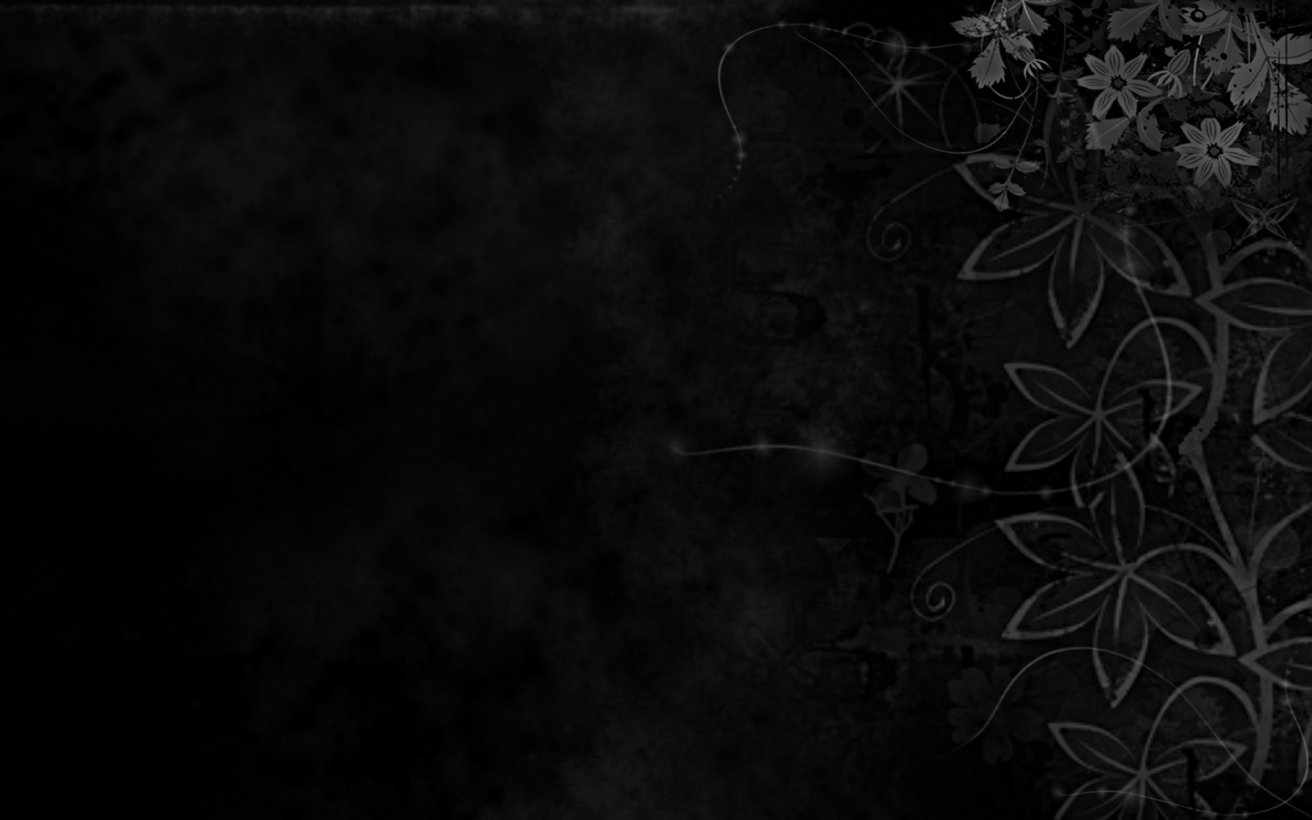 Black and White Desktop