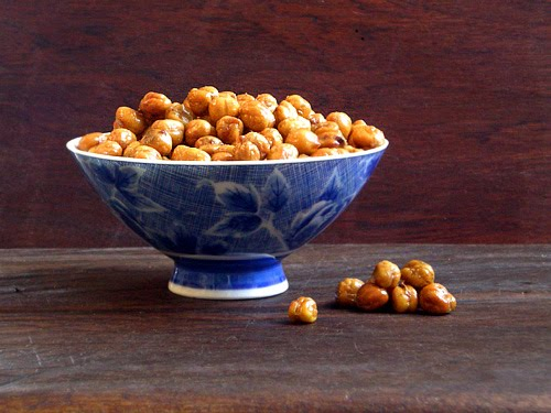 Roasted Chickpeas - Healthy High Fiber Snack Recipe
