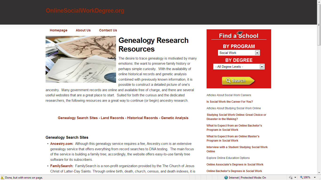 Genea musings 010211 there are categories with links to web sites for genealogy search land records historical records and genetic analysis fandeluxe Choice Image