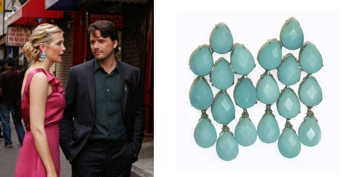 Sophies Closet Blog GOSSIP GIRL STYLE Vanessa Jenny and Lily – Aqua Chandelier Earrings