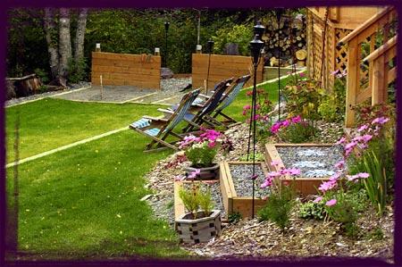 simple backyard horseshoe pit