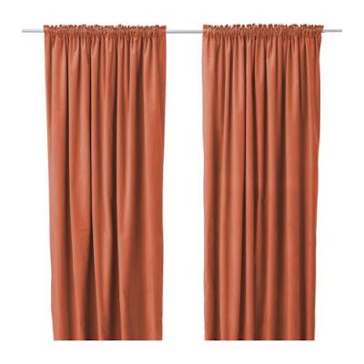 orange curtains rust pumpkin copper bright burnt orange
