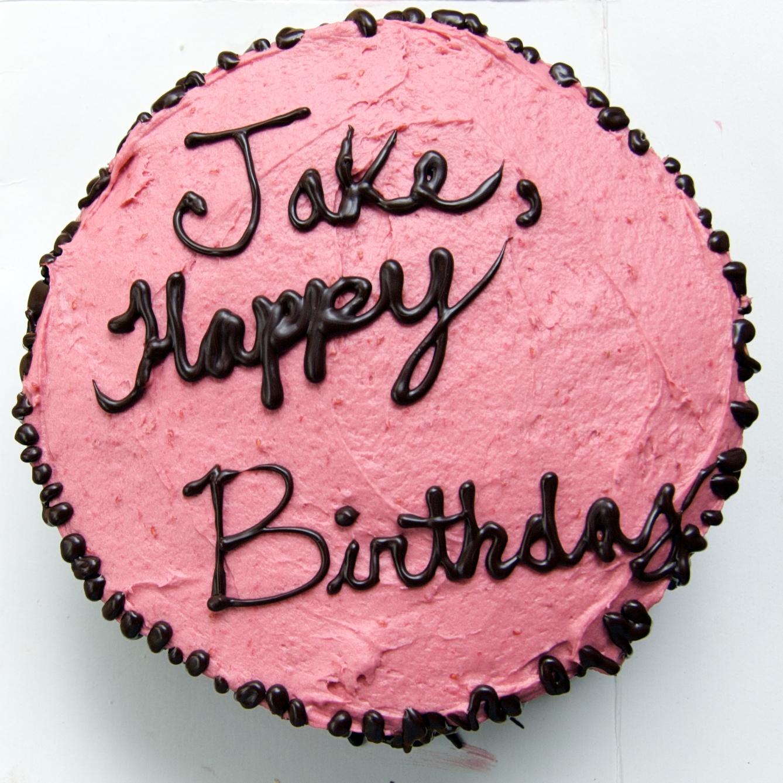 The Ginger Cook Jake Tritharts 22nd Birthday Cake White Cake