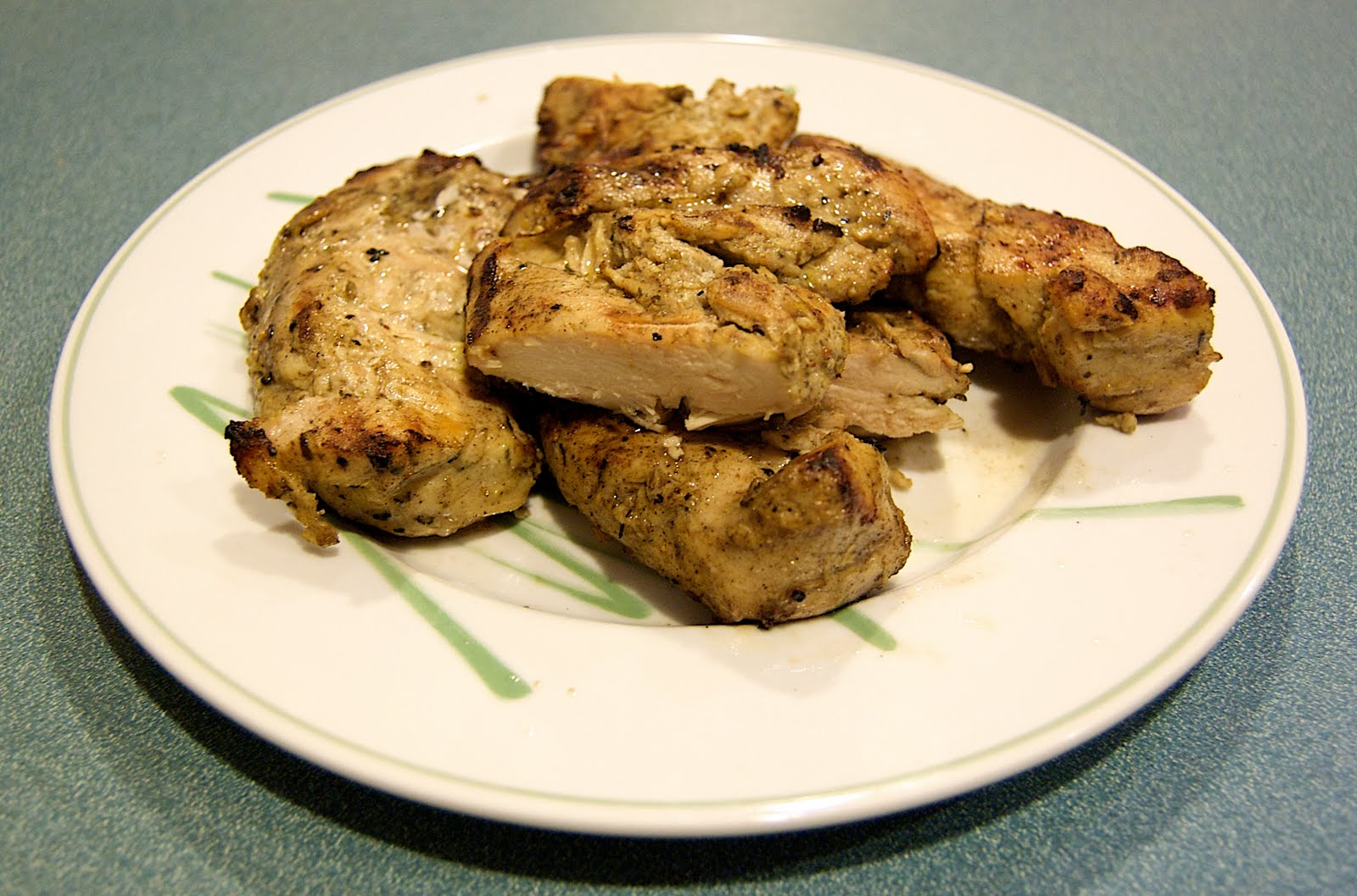 ... Cook: Grilled Chicken Breasts with Lemon Zest, Garlic & Herb Marinade