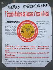 7 Encontro Nacional de Capoeira e Troca de Cordel