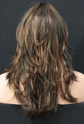 Corte de pelo picado largo