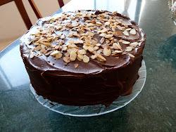 Torta de Chocolate con Almendras tostadas