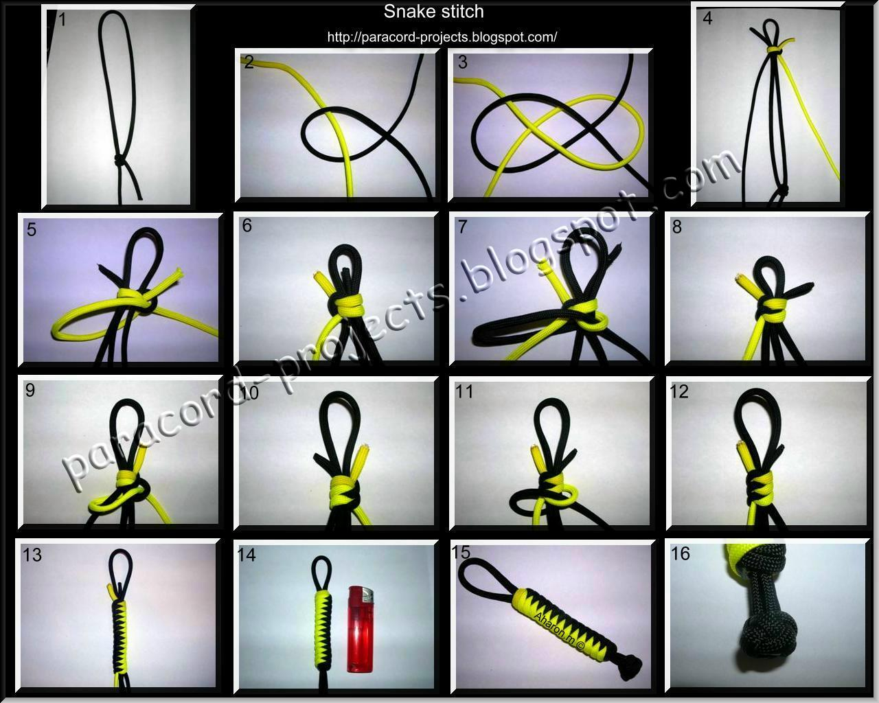 Paracord Projects Snake Stitch 2 Colors