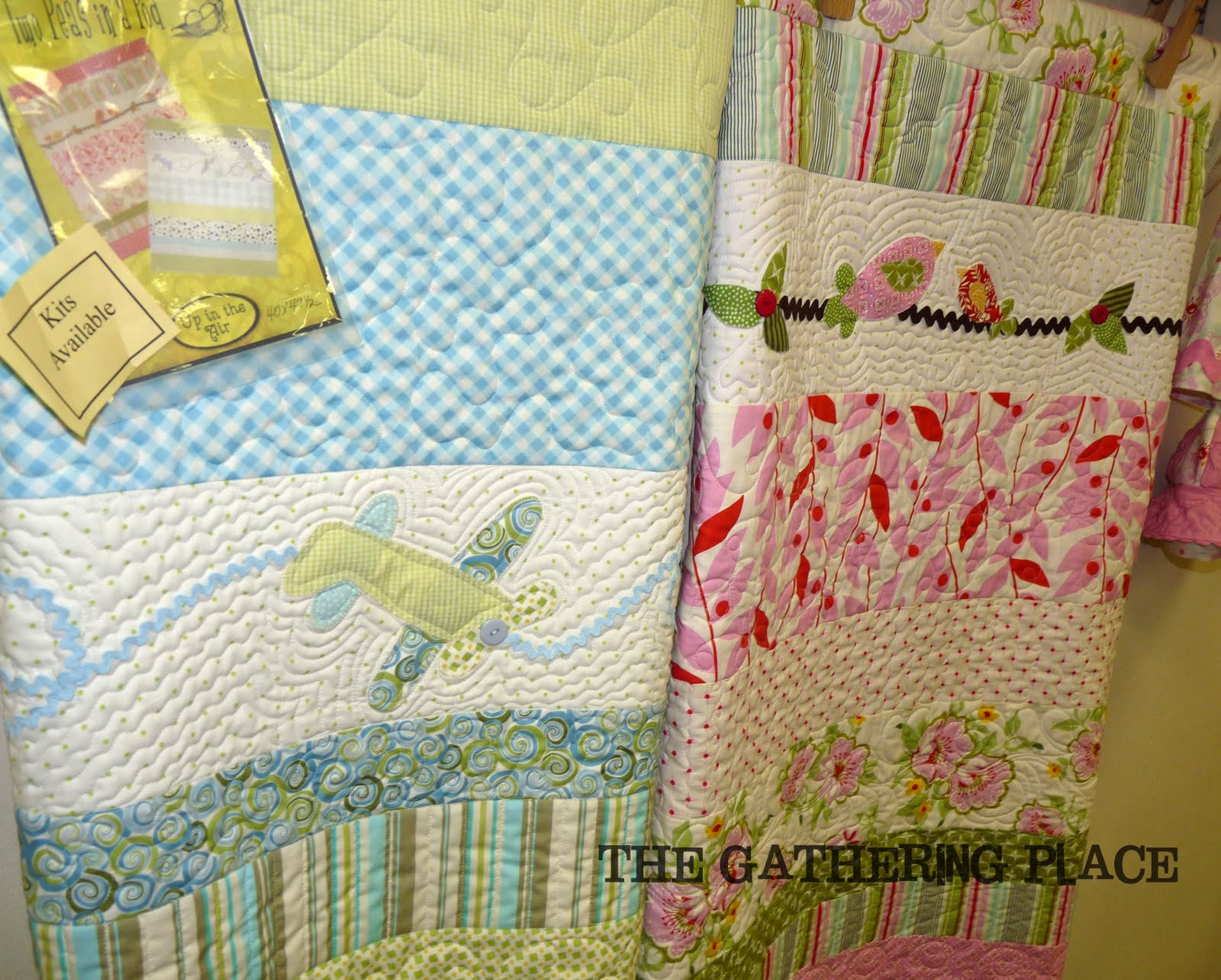 The Gathering Place Quilts: {Two Peas in A Pod} Baby Quilt Kit