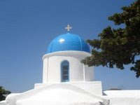 Greek church on Amorgos Island