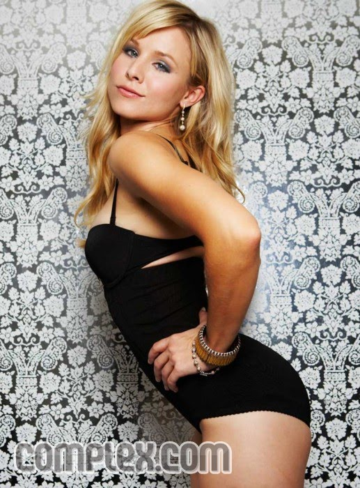 Kristen Bell All Black Lingerie