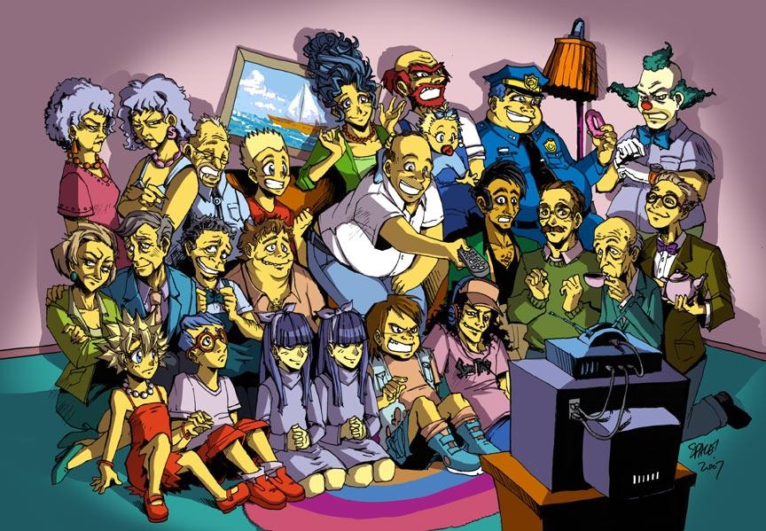Los Simpson En Manga K Fuerte Jajaja Etremeyra Tenes Verlooo