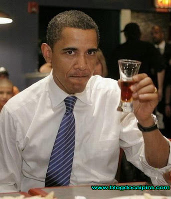Barack Obama comemorando sua posse dia 20/01/2008
