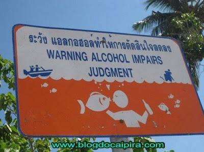 se beber não nade