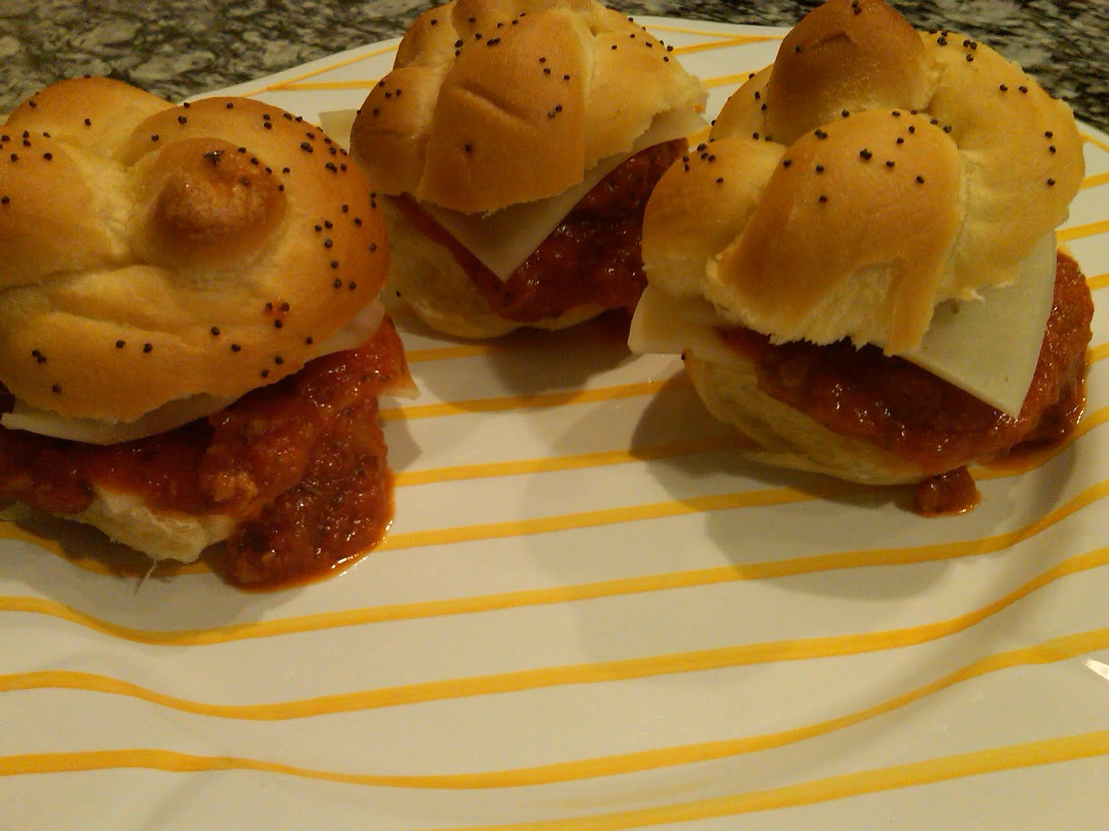 Classic Annie.: Mini Meatball Sandwiches and Tory Burch