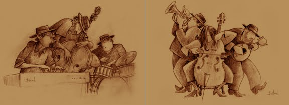 illustration au crayon
