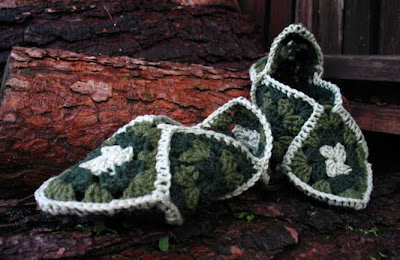 CROCHET GRANNY PATTERN SLIPPER SQUARE - Crochet Club