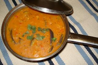 Annus KitchenBrinjal sambar(Iyengar style)