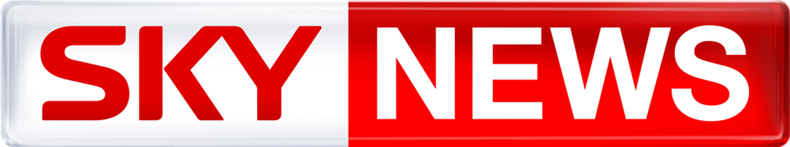 The logo for sky news is quite simple with red and white used cleverly ...