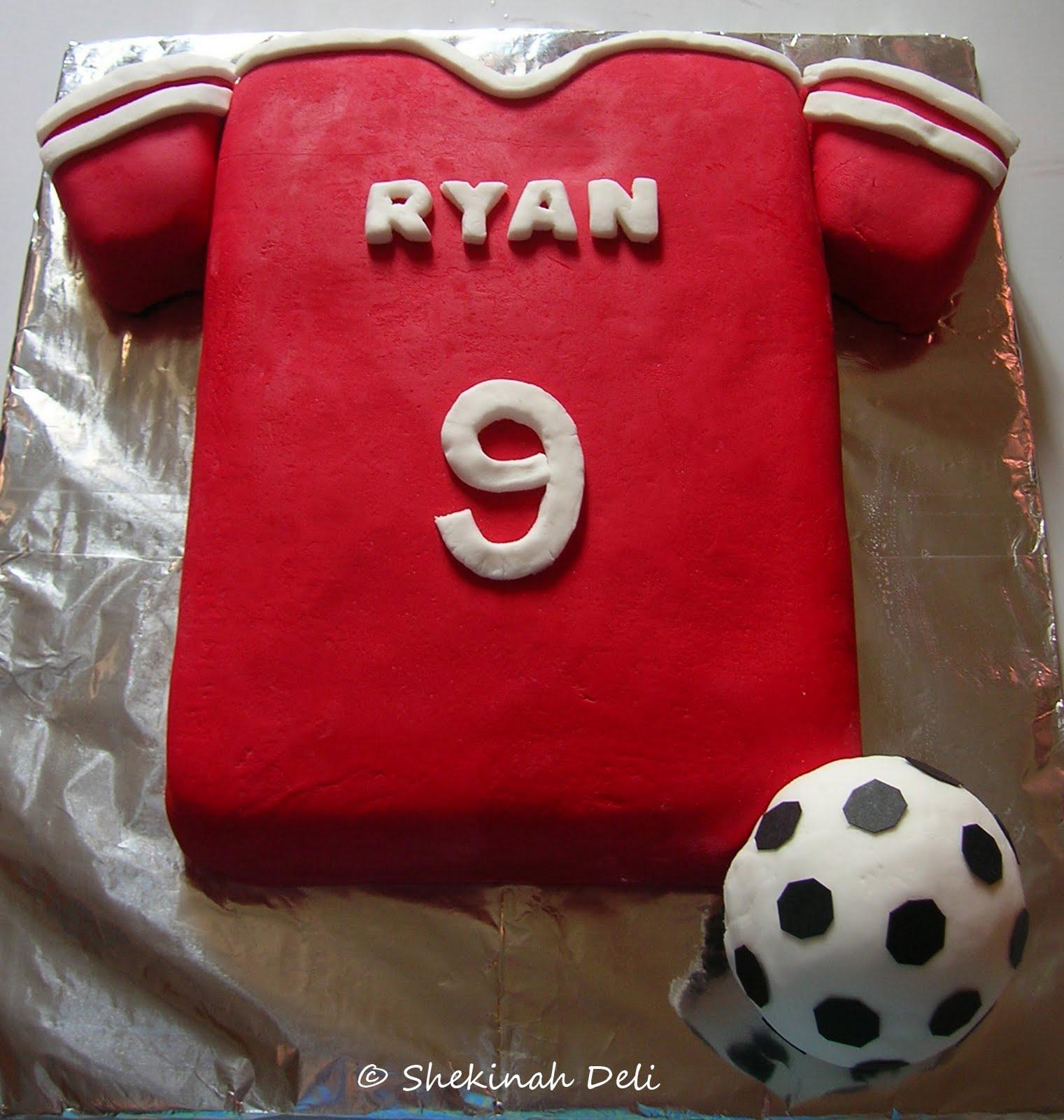 Shekinah Deli Manchester Utd T Shirt Cake For Ryan
